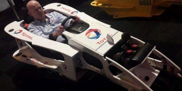 cockpit f1 wit racestoel