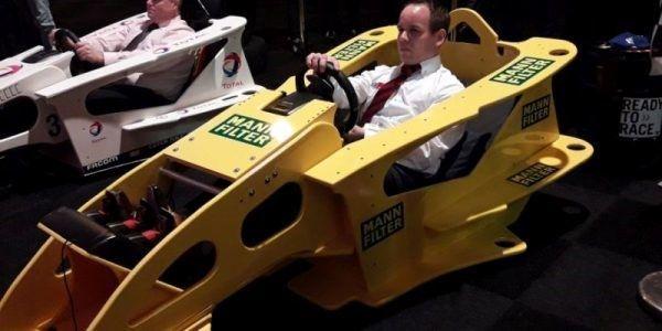 cockpit racen racing geel formule 1