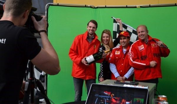 f1 green screen photobooth fototainment