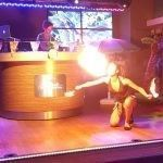 Caribisch themafeest vuurspuwen