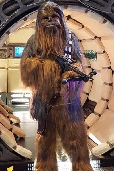 Chewbacca lookalike imitator