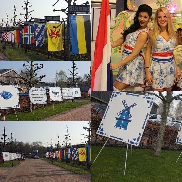www.carsandstars.nl decoratieverhuur Provincievlaggen Delftsblauw Nederland Holland
