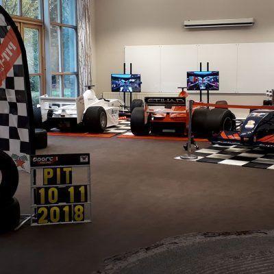 F1 Simulatie bandenwisselspel racing sim header