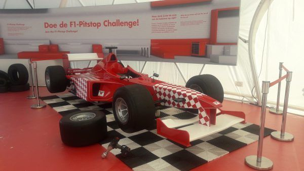 race simulator bandenwisselspel rood